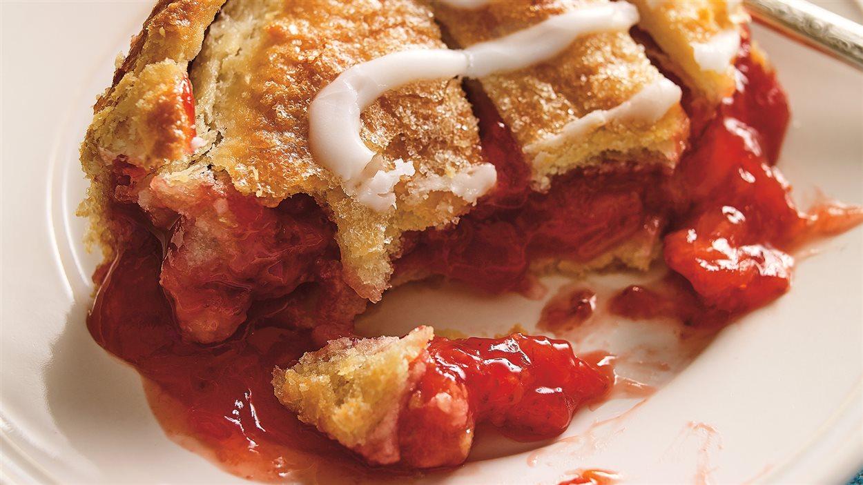 Tarte-chausson à la fraise