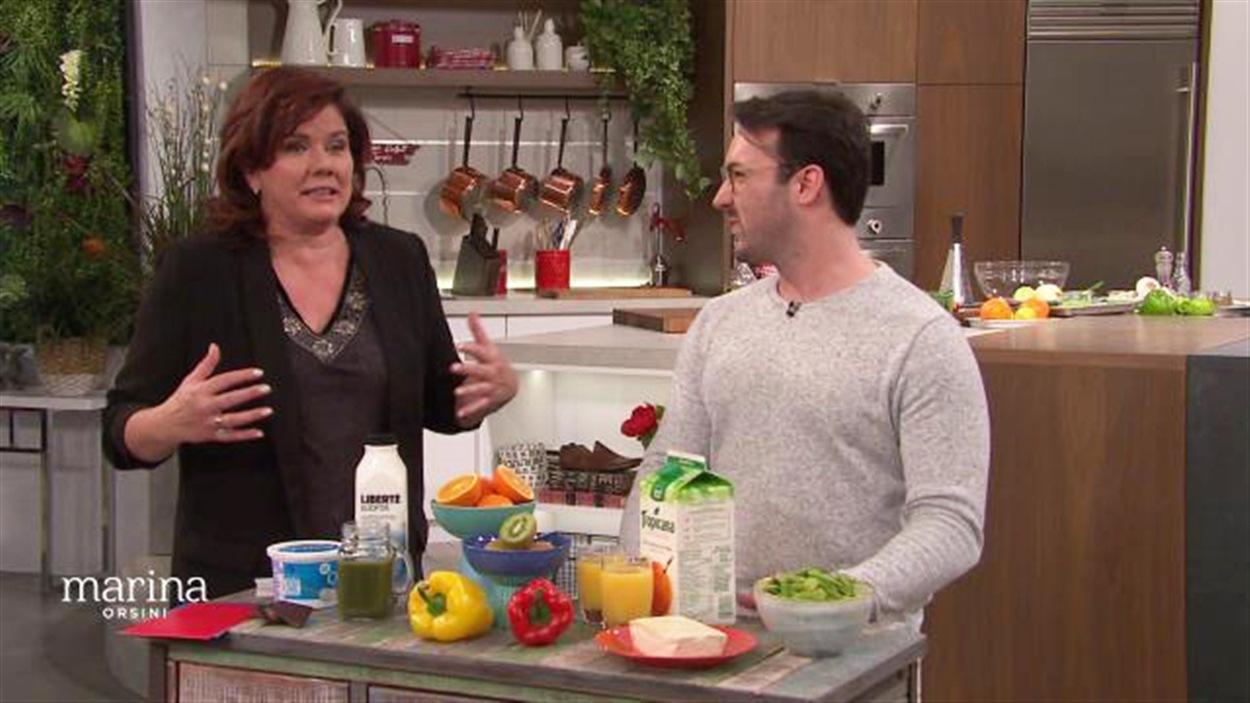 Marina Orsini et le nutritionniste Hubert Cormier