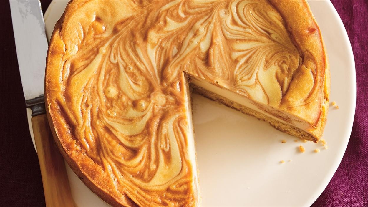 Petit gâteau au fromage et à l'érable