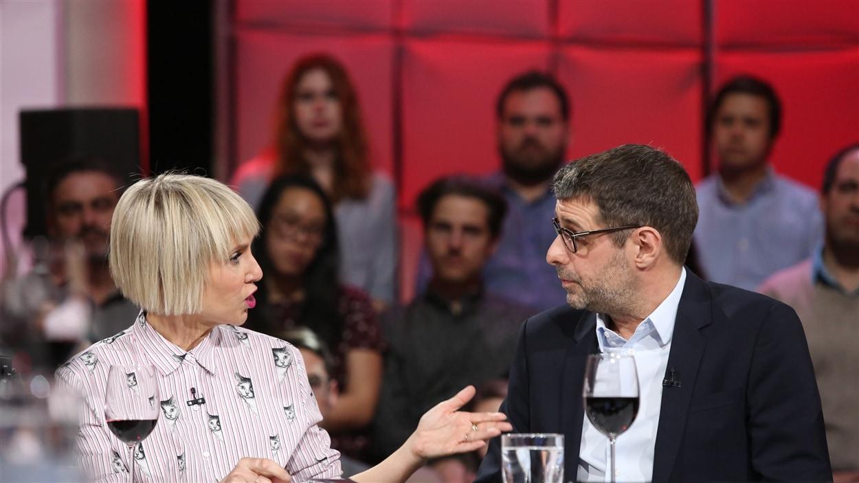 Pénélope McQuade et Éric Duhaime