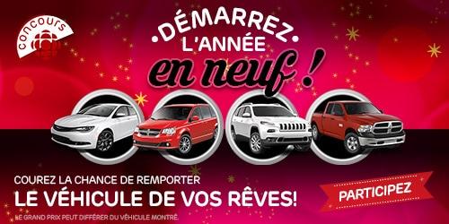Participez au concours Démarrez l'année en neuf! du 13 au 31 décembre 2015. Courez la chance de gagner le véhicule de vos rêves.