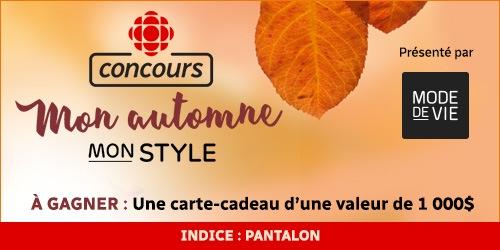 Concours Mon automne, mon style - Indice : pantalon